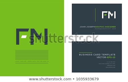 F betű betűtípus logo logotípus ikon szimbólum Stock fotó © blaskorizov