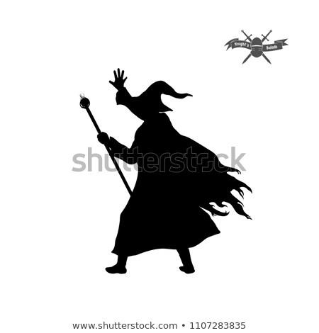 силуэта человека изображение черный маг Сток-фото © Stasia04