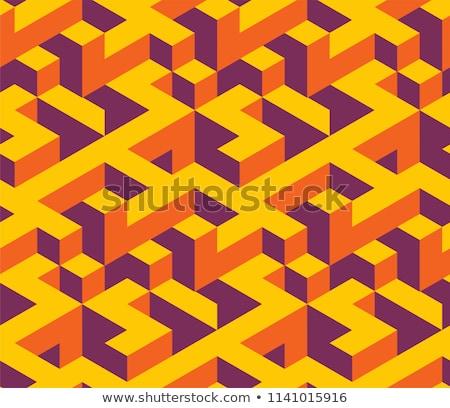 grau · Labyrinth · Design · Kunst · Muster · Suche - stock foto © swillskill