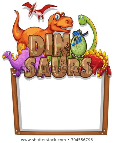 Dinosaur on blank paper Stock photo © colematt