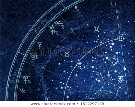 Fragment of Astronomical Celestial Atlas (grunge vintage remake). Stock photo © Glasaigh