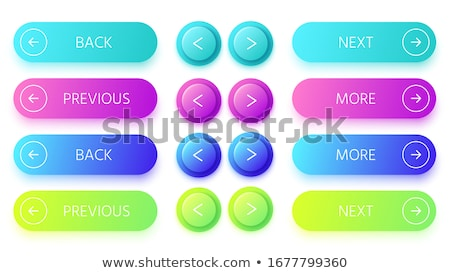 Colorful Shiny round button with Right arrow mark set Stock photo © Blue_daemon