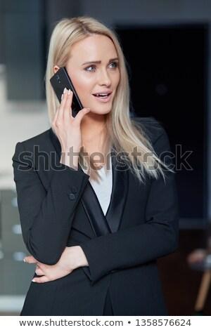 női · bankár · fiatal · üzlet · elemző · öltöny - stock fotó © dash