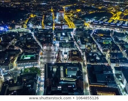 architecture of leipzig at night stock photo © benkrut