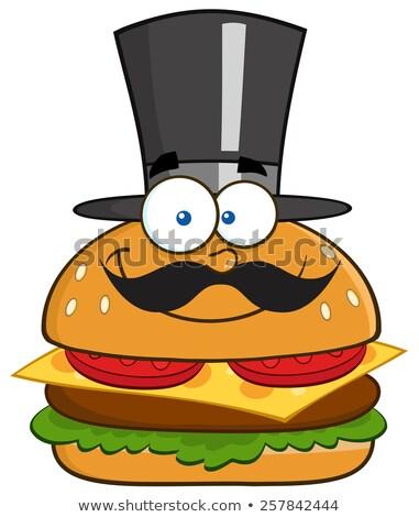 Сток-фото: улыбаясь · гамбургер · джентльмен · цилиндр · Hat