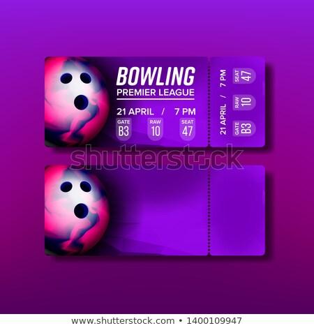 Ticket bon bowling vector sjabloon bon Stockfoto © pikepicture