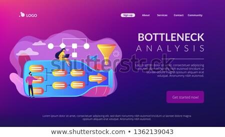 分析 着陸 ビジネスの方々  ボトル ストックフォト © RAStudio