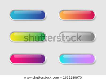 glossy wide round web buttons set Stock photo © SArts