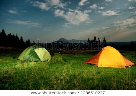 kemping · gwiazdki · namiot · nieba - zdjęcia stock © vapi