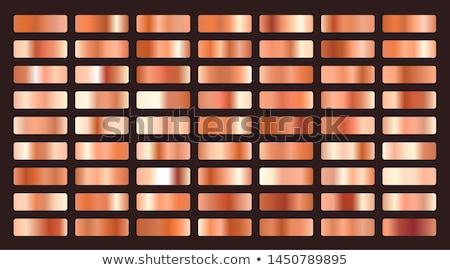 Metallico arancione rame gradienti grande set Foto d'archivio © SArts