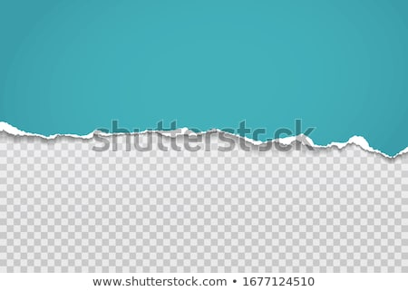 Horizontal torn paper edge. Ripped squared horizontal paper strips. Vector illustration Stock photo © olehsvetiukha