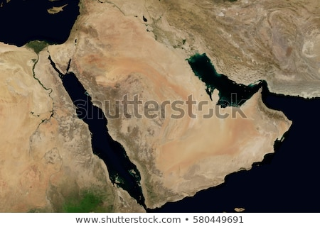 City lights on world map. Arabian Peninsula. Stock photo © NASA_images