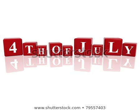 Cubes Calendar 4th July Foto stock © marinini