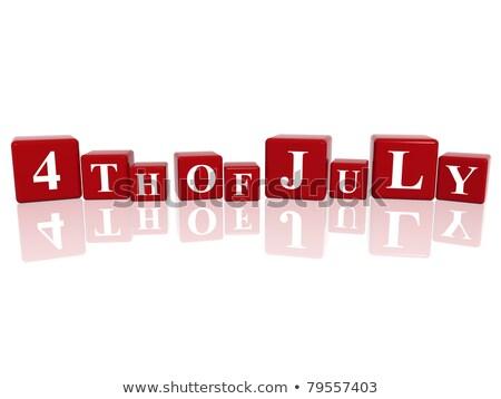 календаря красный белый икона Сток-фото © Oakozhan