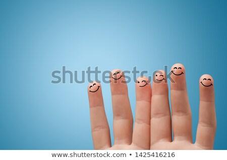 smiley fingers loving each other stock photo © ra2studio