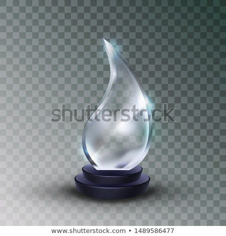 Shiny Glass Trophy Award In Water Drop Form Vector Stock photo © pikepicture