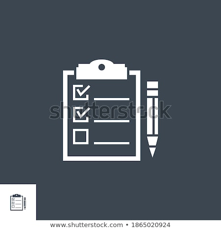 チェックリスト · クリップボード · エレガントな · ペン · オフ · タスク - ストックフォト © smoki