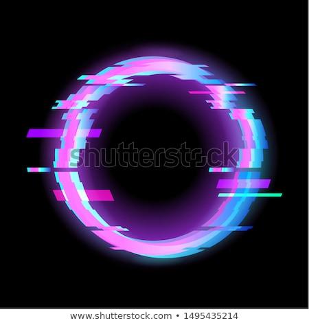 Kleurrijk zeshoek meetkundig vorm frame neon Stockfoto © MarySan