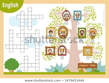 Woord familie alfabetisch vloer witte Stockfoto © lichtmeister