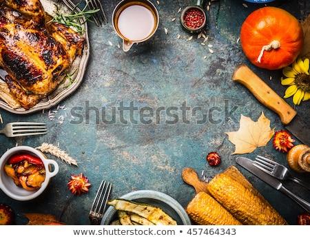 Grillezett sütőtök hálaadás nap étel hagyományos Stock fotó © furmanphoto