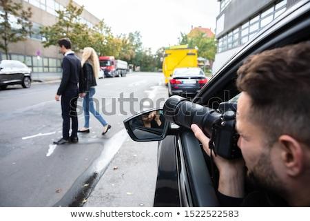 мужчины шпиона фотография пару ходьбе Сток-фото © AndreyPopov