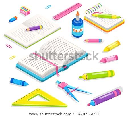 school · label · sticker · cute · terug · naar · school - stockfoto © robuart
