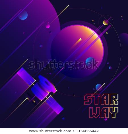 Científico espaço satélite cor vetor Foto stock © pikepicture