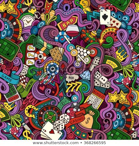 Wetten Glücksspiel Vektor dünne line Stock foto © pikepicture