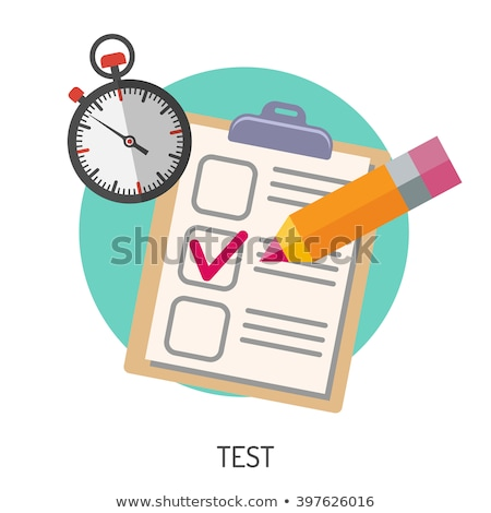 set education test checklist stock photo © -talex-