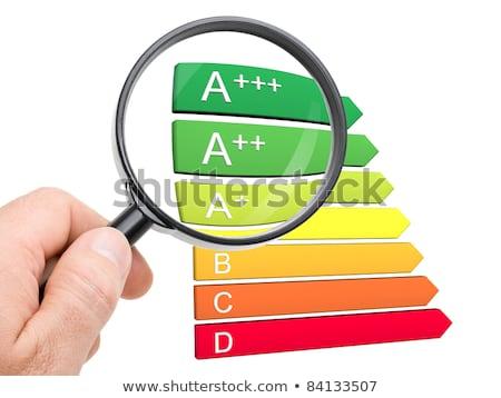energiahatékonyság · illusztrált · diagram · fehér · otthon · narancs - stock fotó © andreypopov
