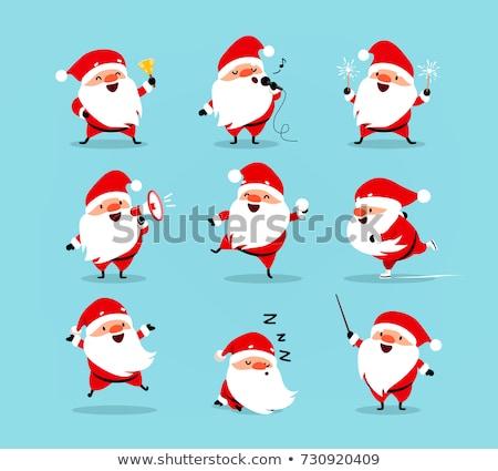 differences game with santa claus christmas characters stock photo © izakowski