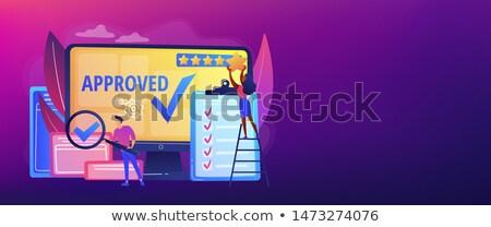 Alto calidad signo banner aprobación Foto stock © RAStudio