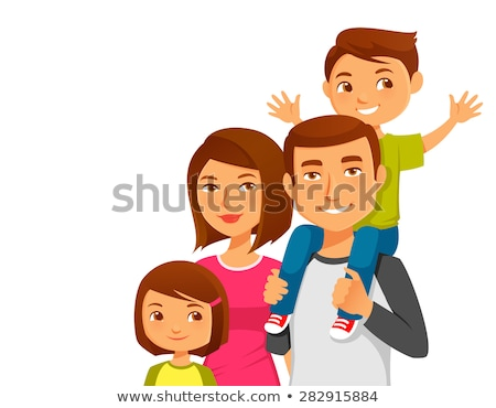 Indian Family Man and Woman with Children Vector Stock photo © robuart