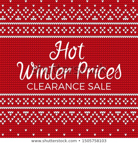 Hot Winter Prices Clearance Sale Embroidery Vector Stock photo © robuart