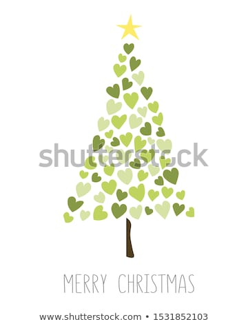 beautiful christmas tree made with sparkles background Stock photo © SArts