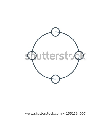 cyclic rotation linear icon, four circles instead of arrows recycling recurrence, renewal line symbo Stock photo © kyryloff