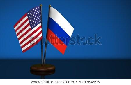Vlaggen Rusland Verenigde Staten amerika exemplaar ruimte business Stockfoto © Zerbor