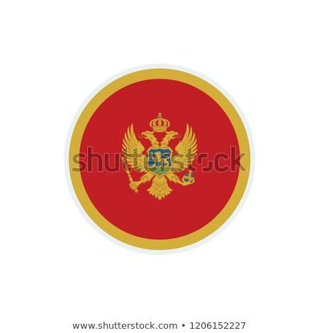 Черногория флаг белый Мир фон ткань Сток-фото © butenkow