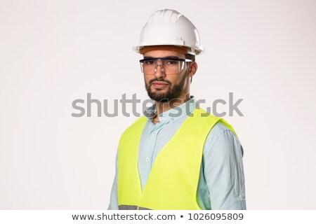 Serious engineer in hardhat Stock photo © nomadsoul1
