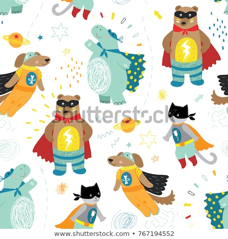 Super Hero Seamless Pattern Vector Stock photo © pikepicture