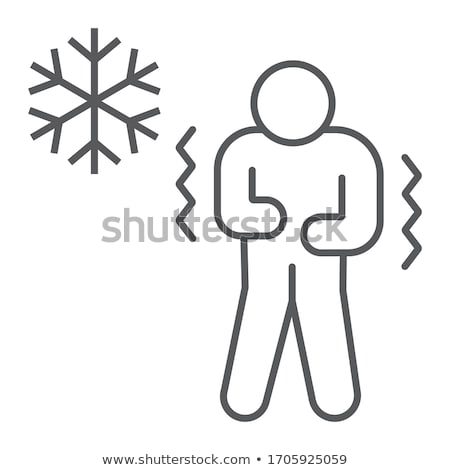 Human With Chill Icon Vector Outline Illustration Stock photo © pikepicture