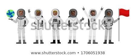 宇宙飛行士 文字 スペース 科学 ベクトル ストックフォト © vector1st