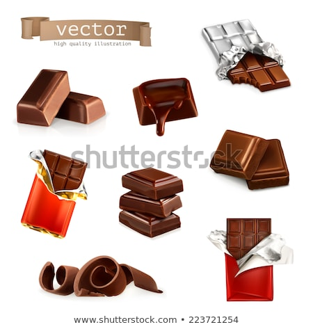 Chocolate bar in red wrapper Stock photo © bluering