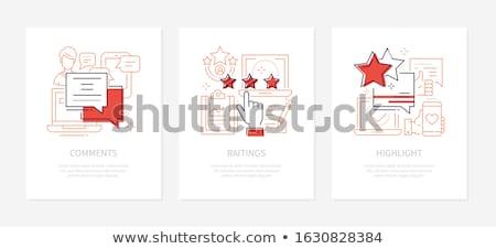 üzleti stratégia vektor vonal terv stílus bannerek Stock fotó © Decorwithme