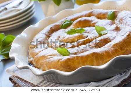 Hús hagyományos román pite étel torta Stock fotó © Melnyk