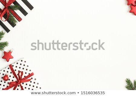 Empty Banner with Decorative Stripe Ribbon Bow Stock photo © robuart