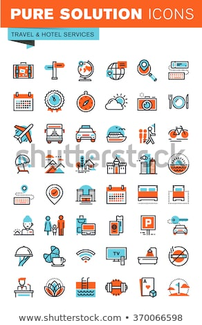 excursion destination icon vector outline illustration Stock photo © pikepicture