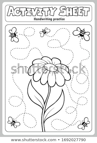 Tevékenység lap kézírás virág művészet oktatás Stock fotó © clairev