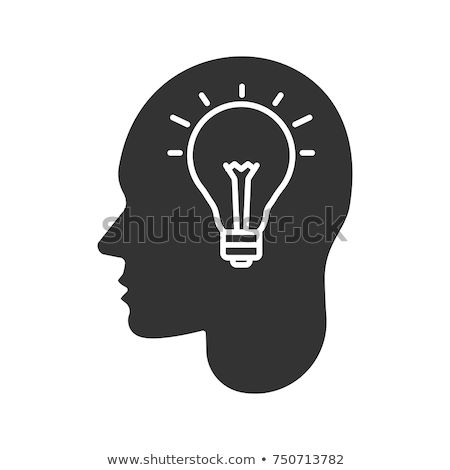 Icon of user and light bulb as innovative idea or creative person Stock photo © ussr
