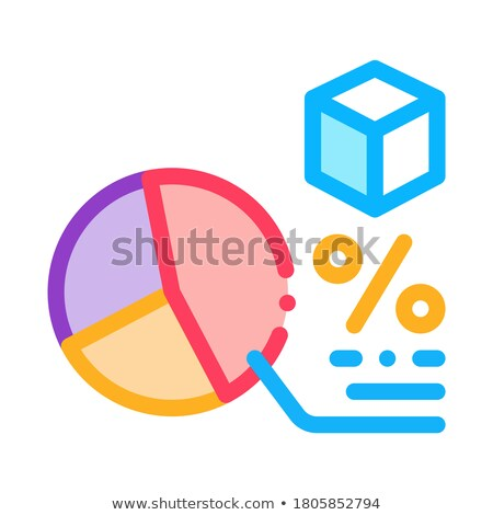 Percentage grafiek icon vector schets Stockfoto © pikepicture